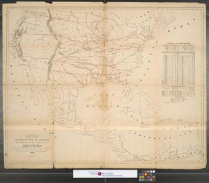 Primary view of Diagram of the United States of America, Mexico, the West India Islands and Isthmus of Darien; by W. T. Steiger, General Land Office.