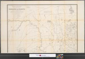 Primary view of object titled 'Military map of Nebraska and Dakota [Sheet 1].'.