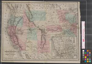 """Primary view of Map of the Territories and Pacific States (to Accompany) """"Across the Continent."""""""