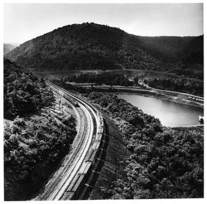 Primary view of object titled '[Pennsy's Horseshoe Curve]'.