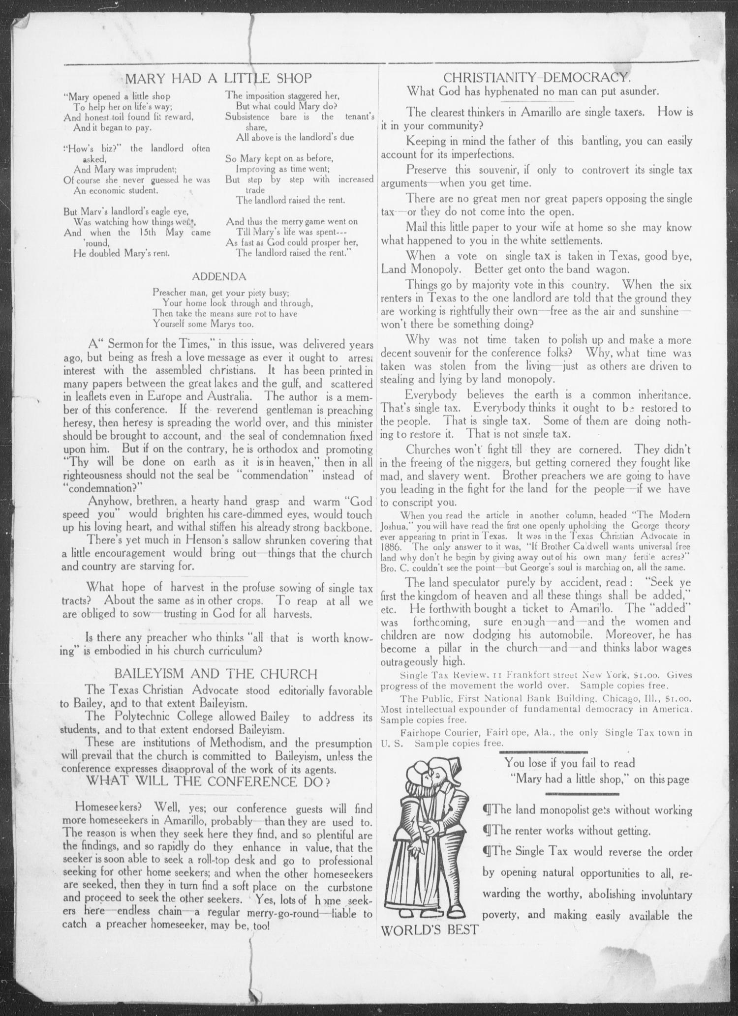 The Caldwell Imprint (Amarillo, Tex.), No. 2, Ed. 1 Wednesday, November 6, 1907                                                                                                      [Sequence #]: 4 of 4