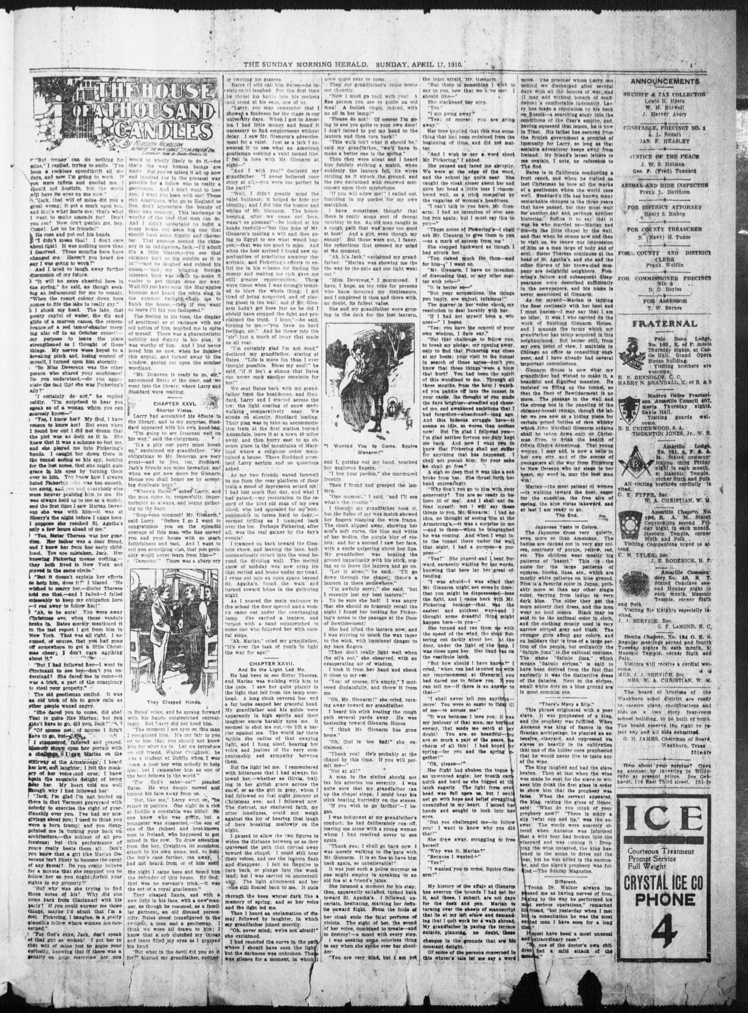 The Sunday Morning Herald. (Amarillo, Tex.), Vol. 22, No. 12, Ed. 1 Sunday, April 17, 1910                                                                                                      [Sequence #]: 11 of 12