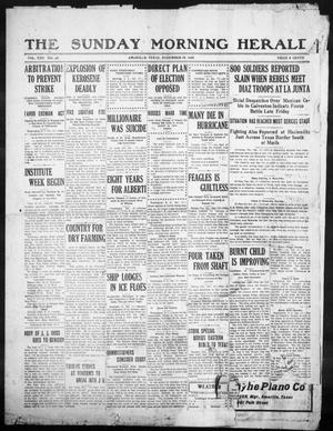 Primary view of object titled 'The Sunday Morning Herald. (Amarillo, Tex.), Vol. 22, No. 46, Ed. 1 Sunday, December 18, 1910'.