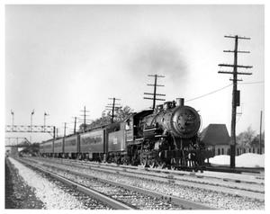 Primary view of object titled '[Chicago and Western Indiana Railroad's suburban passenger train]'.