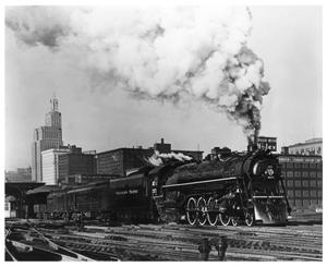 "Primary view of object titled '[""North Coast Limited"" departing from St. Paul, Minnesota]'."