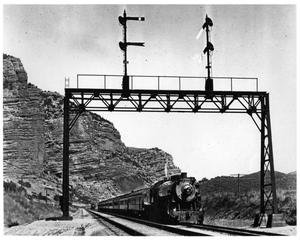"Primary view of object titled '[""Los Angeles Limited"" In Echo Canyon]'."
