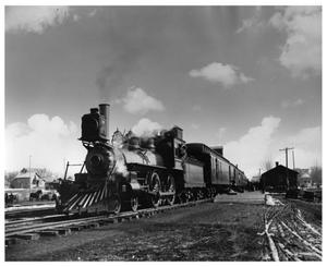 Primary view of object titled '[Early Passenger Train in Minnesota]'.