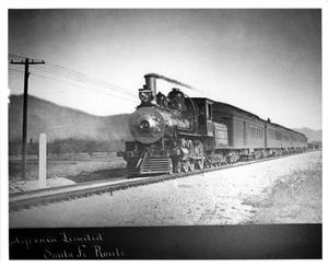"Primary view of object titled '[Early ""California Limited"" entering Los Angeles]'."