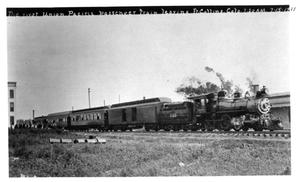 Primary view of object titled '[First Union Pacific passenger train leaves Ft. Collins]'.