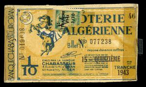 Primary view of object titled 'Noterie Algerienne'.