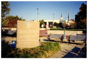 Primary view of object titled 'T Patch Memorial in Dallas'.