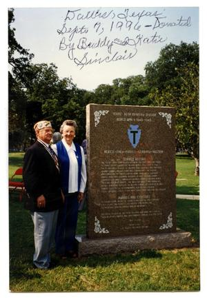 Primary view of object titled 'Buddy and Katie Sinclair Dallas, TX, T Patch Memorial'.
