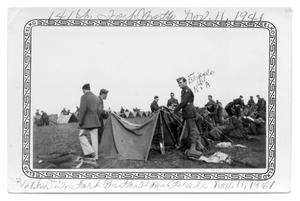 Primary view of object titled 'Soldiers putting up tents Ft. Worth 1941'.