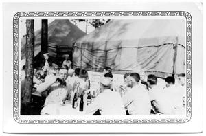 Primary view of object titled 'Soldiers at table drinking'.