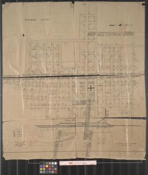 Primary view of object titled '[Sanger Sewer System Map]'.