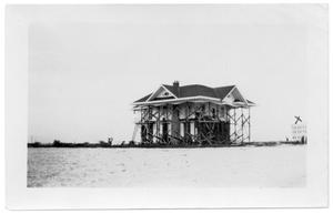 Primary view of object titled '[Photograph of Remaining House on North Beach]'.