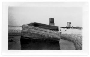 Primary view of object titled '[Wreckage near the causeway]'.