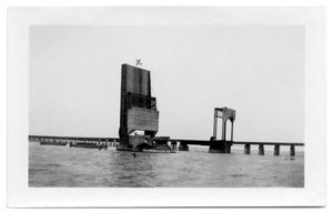 Primary view of object titled '[Photograph of Corpus Christi Causeway Remains]'.