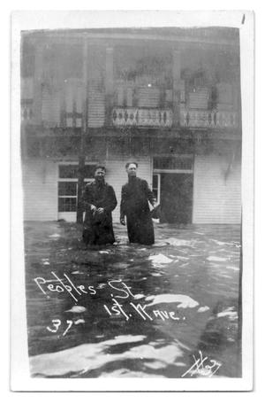 Primary view of object titled '[Photograph of Flooded Peoples Street]'.
