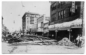 Primary view of object titled '[Downtown Corpus Christi after the flood]'.