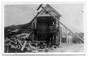 Primary view of object titled '[Photograph of Remains of the Winona Hotel]'.