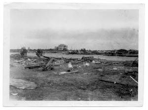 Primary view of object titled '[Photograph of North Beach After Hurricane]'.