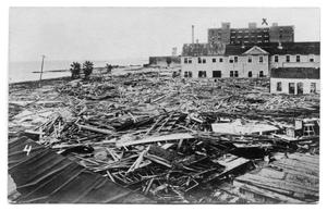 Primary view of object titled '[Photograph of Hotel Wreckage]'.