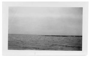 [Wreckage of the causeway in Nueces Bay]