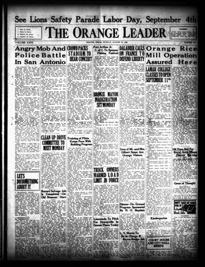 Primary view of object titled 'The Orange Leader (Orange, Tex.), Vol. 26, No. 203, Ed. 1 Sunday, August 27, 1939'.
