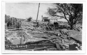 Primary view of object titled '[Photograph of Remains of Loyd's House]'.