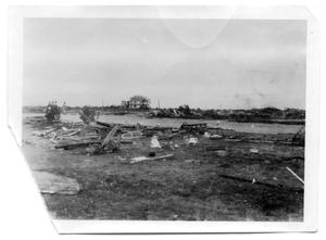 Primary view of object titled '[Debris around street and Spohn Sanitarium]'.