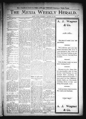Primary view of object titled 'The Mexia Weekly Herald (Mexia, Tex.), Vol. 9, No. 43, Ed. 1 Thursday, October 22, 1908'.
