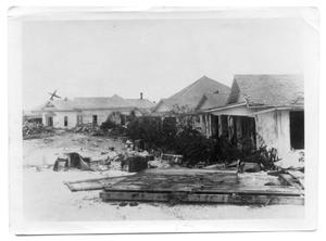 Primary view of object titled '[Photograph of Hurricane Damage on North Water Street]'.