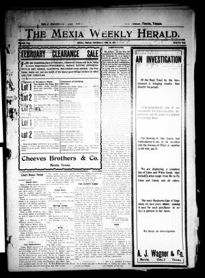 Primary view of object titled 'The Mexia Weekly Herald (Mexia, Tex.), Vol. 11, Ed. 1 Thursday, February 10, 1910'.