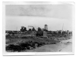 Primary view of object titled '[Photograph of Ice Factory Ruins]'.