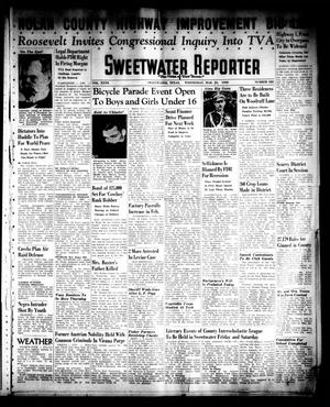 Primary view of object titled 'Sweetwater Reporter (Sweetwater, Tex.), Vol. 40, No. 323, Ed. 1 Wednesday, March 23, 1938'.