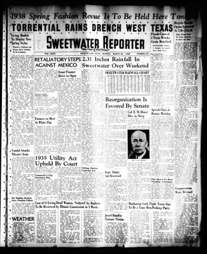 Primary view of object titled 'Sweetwater Reporter (Sweetwater, Tex.), Vol. 40, No. 311, Ed. 1 Monday, March 28, 1938'.