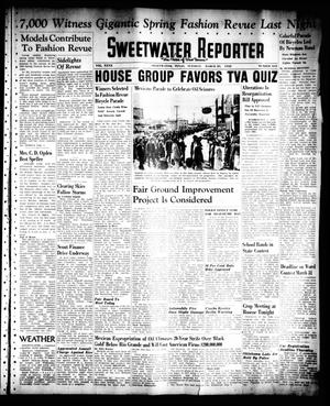 Primary view of object titled 'Sweetwater Reporter (Sweetwater, Tex.), Vol. 40, No. 312, Ed. 1 Tuesday, March 29, 1938'.