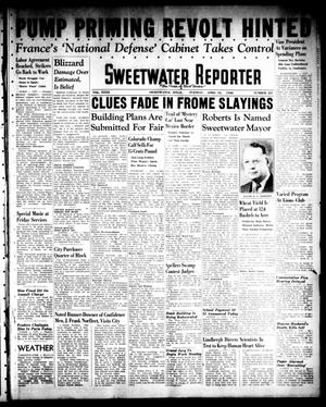 Primary view of object titled 'Sweetwater Reporter (Sweetwater, Tex.), Vol. 40, No. 321, Ed. 1 Tuesday, April 12, 1938'.