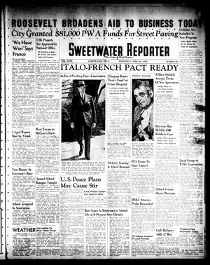 Primary view of object titled 'Sweetwater Reporter (Sweetwater, Tex.), Vol. 40, No. 327, Ed. 1 Wednesday, April 20, 1938'.