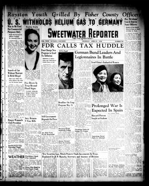 Primary view of object titled 'Sweetwater Reporter (Sweetwater, Tex.), Vol. 40, No. 327, Ed. 1 Thursday, April 21, 1938'.