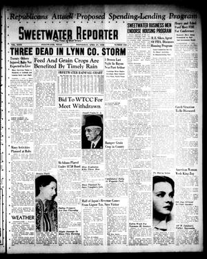 Primary view of object titled 'Sweetwater Reporter (Sweetwater, Tex.), Vol. 40, No. 332, Ed. 1 Wednesday, April 27, 1938'.