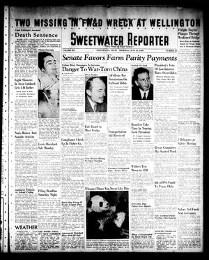 Primary view of object titled 'Sweetwater Reporter (Sweetwater, Tex.), Vol. 41, No. 64, Ed. 1 Thursday, June 16, 1938'.