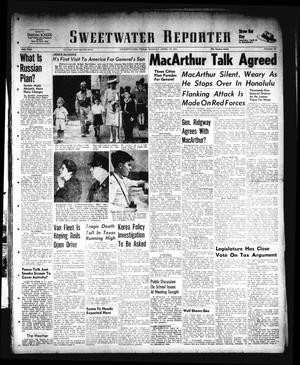 Primary view of object titled 'Sweetwater Reporter (Sweetwater, Tex.), Vol. 54, No. 90, Ed. 1 Monday, April 16, 1951'.