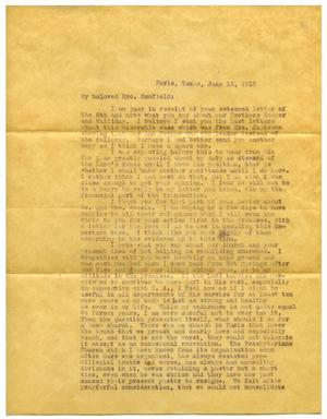 Primary view of object titled '[Letter from Judge David H. Scott to Cyrus I. Scofield, June 13, 1916]'.