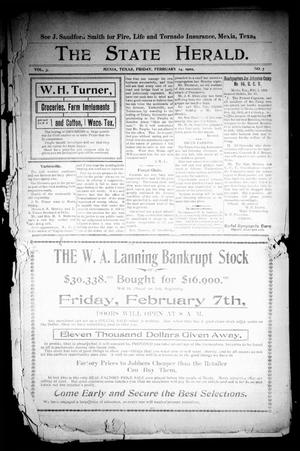 The State Herald (Mexia, Tex.), Vol. 3, No. 7, Ed. 1 Friday, February 14, 1902