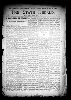 Primary view of object titled 'The State Herald (Mexia, Tex.), Vol. 3, No. 18, Ed. 1 Friday, May 2, 1902'.