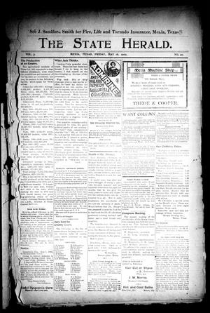 Primary view of object titled 'The State Herald (Mexia, Tex.), Vol. 3, No. 20, Ed. 1 Friday, May 16, 1902'.