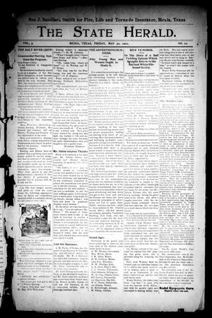 Primary view of object titled 'The State Herald (Mexia, Tex.), Vol. 3, No. 22, Ed. 1 Friday, May 30, 1902'.