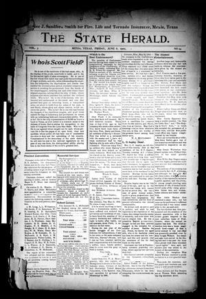 Primary view of object titled 'The State Herald (Mexia, Tex.), Vol. 3, No. 23, Ed. 1 Friday, June 6, 1902'.